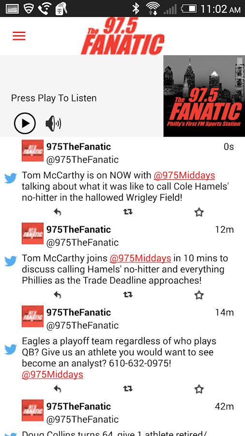 97.5 The Fanatic -Philadelphia- screenshot