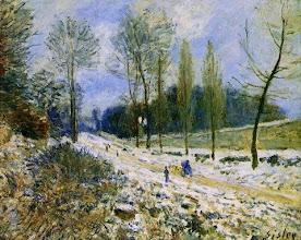 """Photo: Alfred Sisley, """"La costa Coeur-volant a Marly sotto la neve"""" (1878)"""