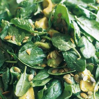 Spinach, Avocado and Pumpkin Seed Salad.