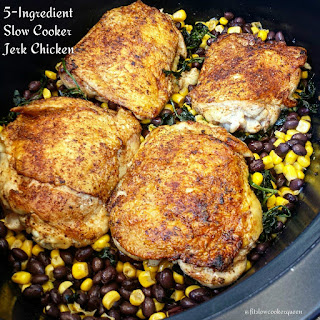 5-Ingredient Slow Cooker Easy Jerk Chicken.