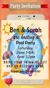 Party invitation card maker aplikasi di google play gambar screenshot stopboris Choice Image