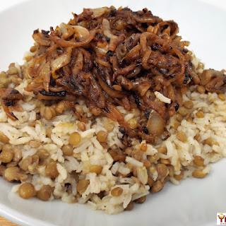 Mujadara (Lebanese Lentils and Rice) Recipe