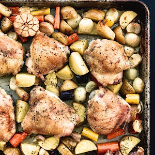 Wine-Roasted One-Pan Chicken.