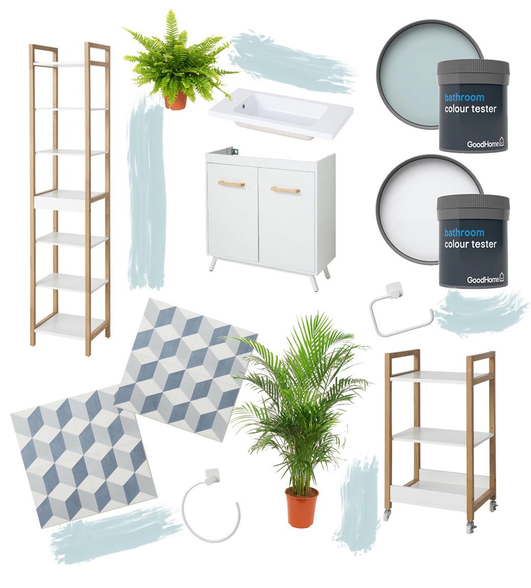Find out my plans for our rented bathroom and 7 simple updates you can make to your own rental using the B&Q GoodHome Bathroom Range.