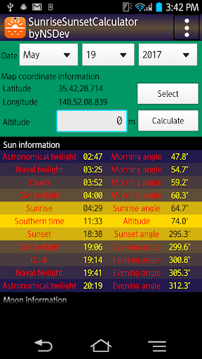 SunriseSunsetCalc byNSDev 1.0.2 Windows u7528 1