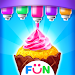 Ice Cream Cone Cupcake-Bakery Food Game Icon