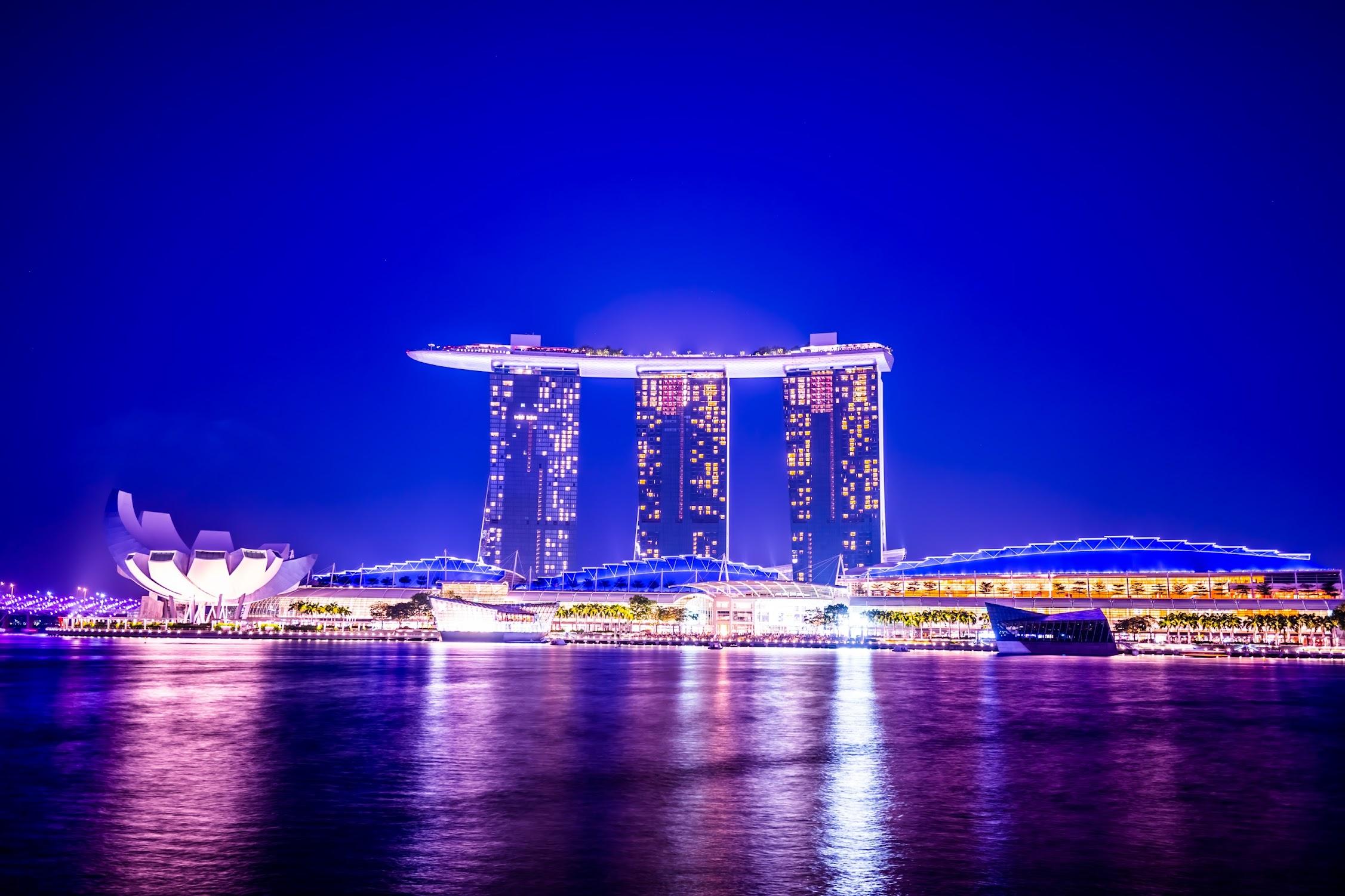 シンガポール マリーナ・ベイ・サンズ 夜景1