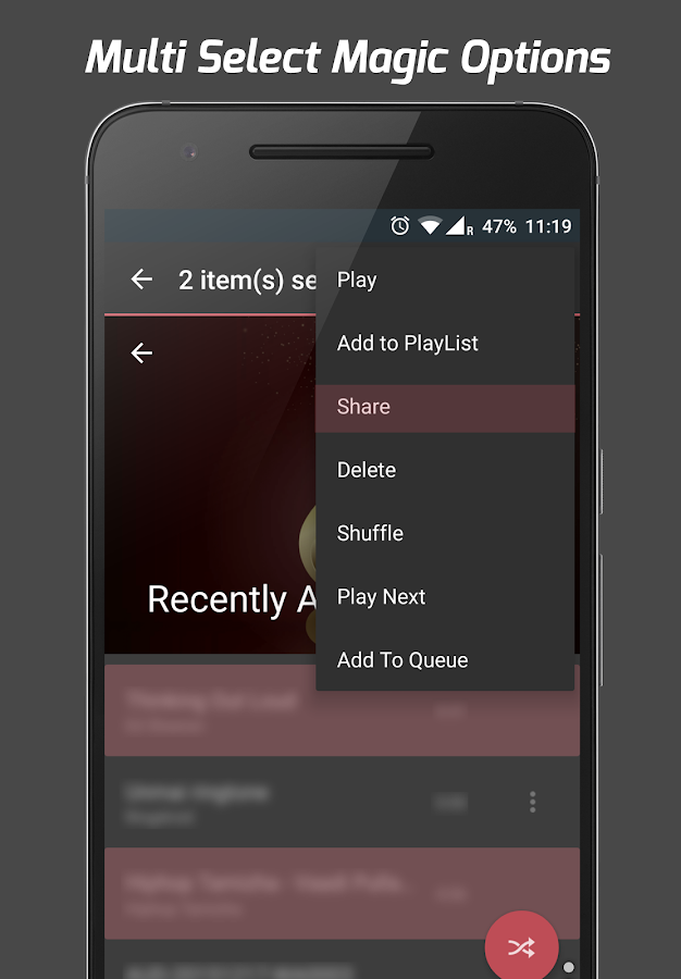 Pi Music Player: captura de tela