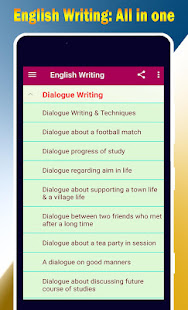 English Writing - Essay, Paragraph, letter etc