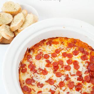 Pepperoni Sausage Pizza Dip.