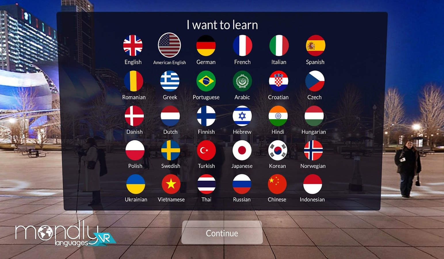 Mondly: Learn Languages in VR- screenshot