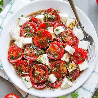 Perfect Marinated Tomatoes with Mozzarella.