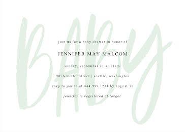 Jennifer's Baby Shower - Baby Shower Invitation Template