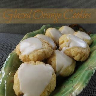 Glazed Orange Cookies