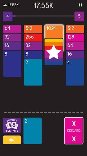 Twenty48 Solitaire Android App Screenshot