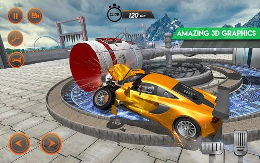 Speed bump car crash simulator:beam damage drive #car games for.