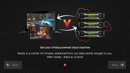 Vortex Cloud Gaming Screenshot