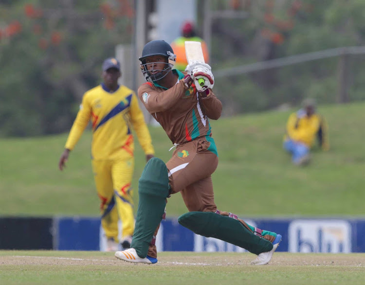 Bamanye Xengxe of Border during the 2018 Africa T20 Cup final match between Gauteng and Border at Buffalo Park on September 24, 2018 in East London, South Africa.