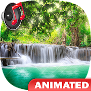 Waterfall Live Wallpaper with Sound 💦 Water Drops