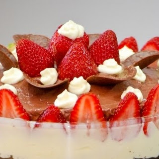Chocolate Mousse and Strawberry Trifle.