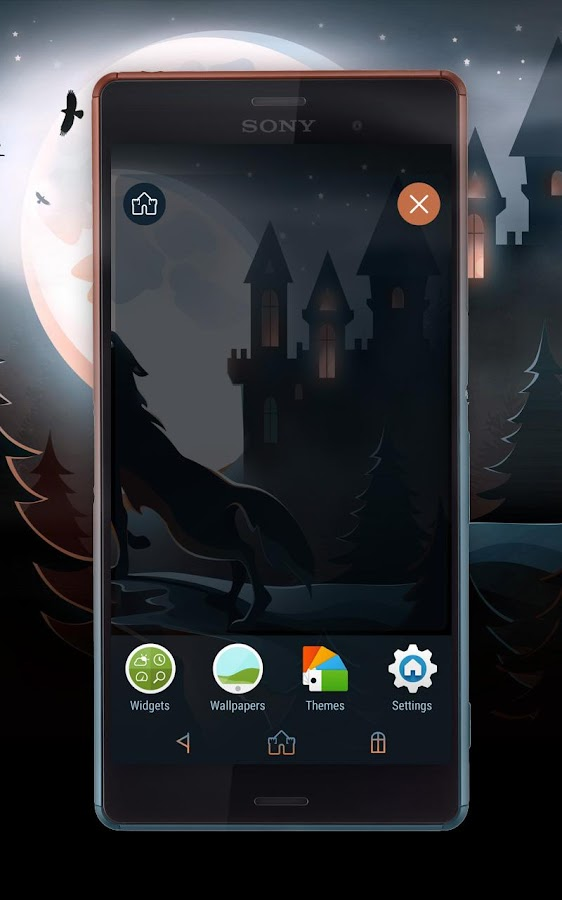 Night of The Wolf Xperia Theme- screenshot