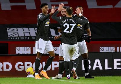 Manchester United komt opnieuw op achterstand in de Premier League, maar boekt wel tiende uitoverwinning op rij tegen Sheffield United