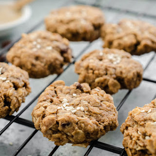 New Spin On An Old Favorite! Vegan and Gluten Free Tahini Oatmeal Raisin Cookies.