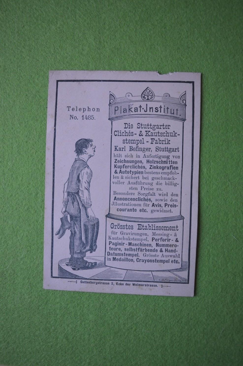 Werbung für ein Plakat-Institut