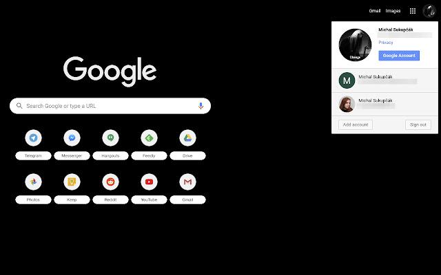 Google Account Switcher Into Same Window
