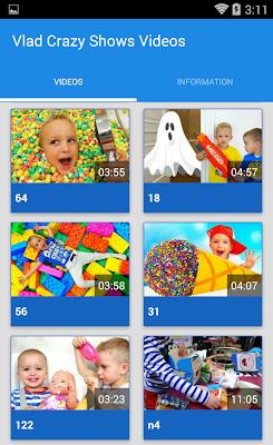 Vlad Crazy Shows videos - screenshot