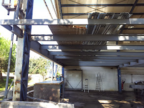Photo: beton Altı Trapez sac ve stud kaynaklama