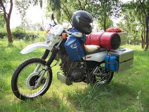 Photo: Motorrad im Zustand wie ich losgefahren bin