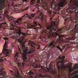 Balsamic Braised Red Cabbage.