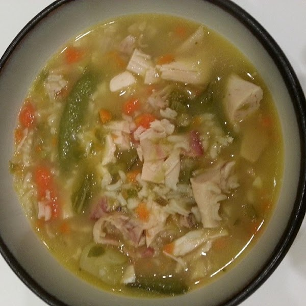 Chicken And Rice Soup With Veggis Recipe