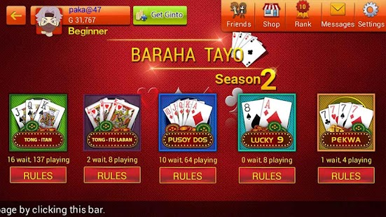Baraha Tayo - náhled