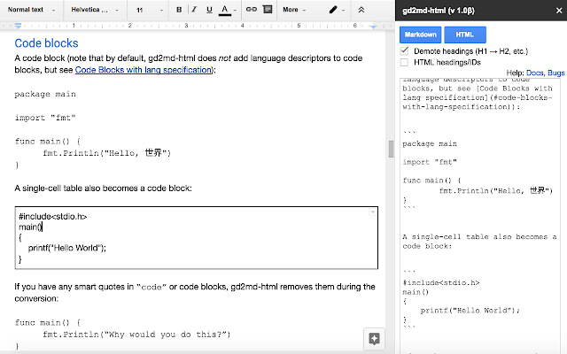 Docs to Markdown - G Suite Marketplace