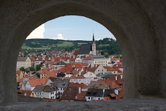 Photo: View of Czesky Kromlov, Czech Rep. from the castle