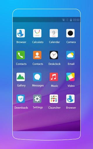 Theme For Vivo Y21L Purple Style Wallpaper 1.0.2 screenshots 2
