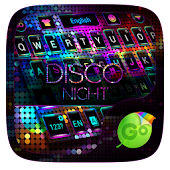 Disco Night GO Keyboard Theme