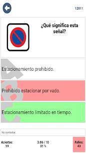 Examen teórico coche carnet B conducir España DGT 2