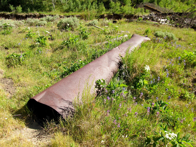 Steel pipe at the sawmill site