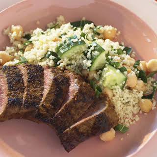 Chickpea Couscous with Grilled Lamb.