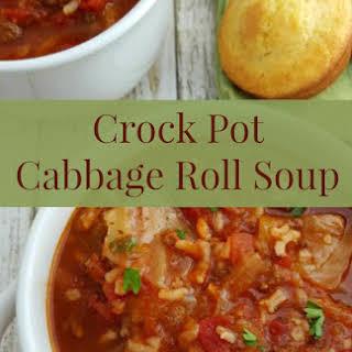 Crock Pot Cabbage Roll Soup.