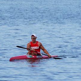 Canoeing - III by Joatan Berbel - Sports & Fitness Watersports ( watersports, movement, sports, canoe, colorfull )
