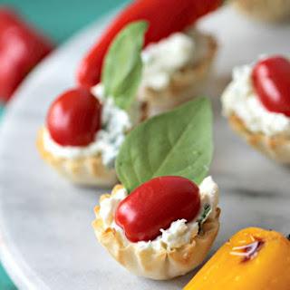Basil Whipped Feta Mini Phyllo Dough Shells.
