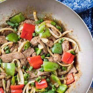 Easy Chinese Pepper Steak.