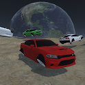 Space Car Charger Drag Racing Drift Simulator Game icon