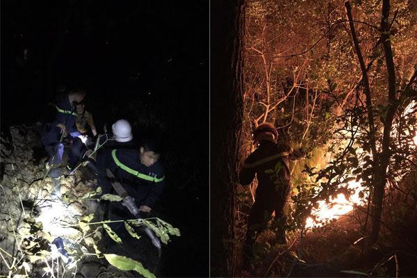 Lực lượng Cảnh sát PCCC&CNCH dập lửa