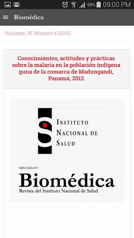Biomédica- screenshot