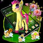 3D Cute Baby Pony theme
